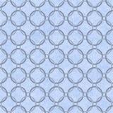 Błękit Przeplatający okrąg Textured tkaniny tło royalty ilustracja
