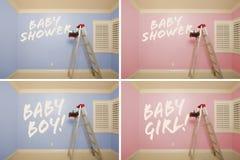błękit puste maternity menchii pokojów serie Obraz Stock