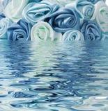 Błękit róża odbijająca w wodzie Obraz Stock
