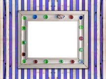 błękit ramowy dopasowywający deski morza stylu ściany biel Obrazy Royalty Free