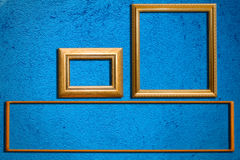 błękit ramy ściana Fotografia Stock