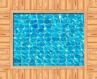 błękit ramy basenu pływacki drewno Obrazy Royalty Free