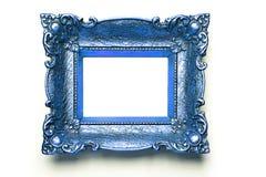 błękit ramy obrazka ściany biel Zdjęcie Stock