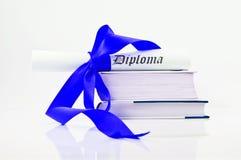 błękit rezerwuje dyplomu faborek Obrazy Stock