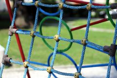 Błękit sieć na dziecka ` s boisku Obraz Stock