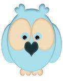 błękit sowy Obraz Royalty Free