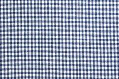 Błękit sprawdzać odzieżowa tkaniny tekstura Zdjęcie Royalty Free