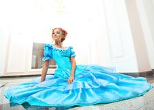 błękit suknia Obraz Stock