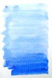 błękit szczotkarska uderzeń akwarela fotografia stock