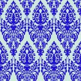 błękit tekstura adamaszkowa bezszwowa Zdjęcie Royalty Free