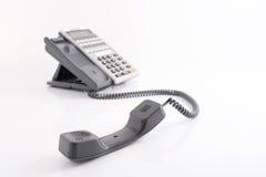 błękit telefon zamknięty biurowy strzelający tonującym tonować Obraz Royalty Free