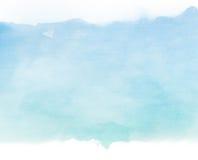 Błękit tonuje wodnego kolor na starym papierowym tekstury tle Zdjęcia Stock