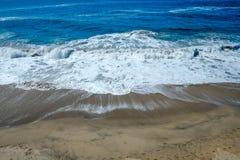 Błękit tropikalna plaża Obrazy Royalty Free