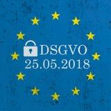 Błękit UE Betonowa flaga DSGVO Obrazy Royalty Free