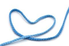 Błękit włóczkowy niciany serce Obraz Royalty Free