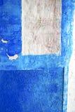 błękit w tekstury ścianie i Africa abstrakcie zdjęcie royalty free