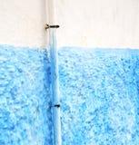 błękit w tekstury ściany vvand Morocco Africa abstrakcie obraz royalty free