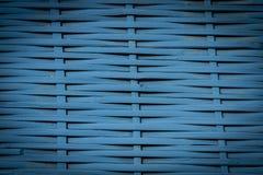 Błękit wyplata tło Fotografia Stock