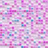 błękit wzoru menchii kwadraty Zdjęcie Royalty Free