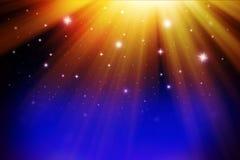 Błękit, złoty błyszczący bożego narodzenia tło ilustracji