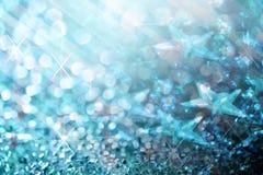 Błękit zaświeca świątecznych rozmytych abstrakcjonistycznych boże narodzenia twinkled jaskrawi półdupki Obraz Royalty Free