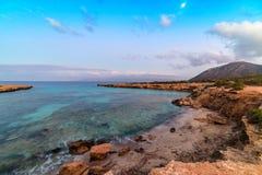 Błękit zatoka, księżyc Zdjęcie Royalty Free