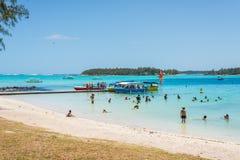 Błękit zatoki plaża, Mauritius Obraz Stock