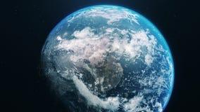 Błękit ziemia w otwartej przestrzeni zdjęcie wideo