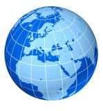 błękit ziemska Europe kula ziemska Zdjęcie Royalty Free