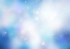 Błękit zimy xmas astronautyczny abstrakcjonistyczny tło royalty ilustracja