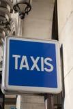 błękit znaka taxi Obrazy Royalty Free