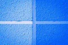 Błękit ścienna i podłogowa tekstura Obraz Royalty Free