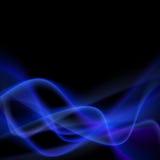 Błękita abstrakta łuny światła swoosh dymna linia Zdjęcia Royalty Free