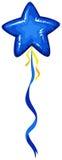 Błękita balon w gwiazdowym kształcie ilustracja wektor