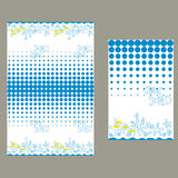 Błękita dno morskie i kropki deseniowy bezszwowy Obraz Royalty Free