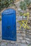 Błękita domowy wejście w Liguria Zdjęcia Royalty Free
