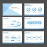 Błękita falowy infographic element i ikony prezentaci szablonów płaski projekt ustawiamy dla broszurki ulotki ulotki strony inter Obrazy Royalty Free