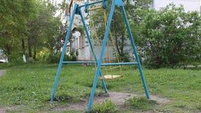 Błękita huśtawkowy chlanie zdjęcie wideo
