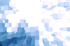 Błękita i bielu blok Obrazy Royalty Free