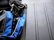Błękita i czerni plecy - juczna patka dla obozować, wycieczkować i backpacking, obraz stock
