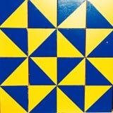 Błękita i koloru żółtego kwadratów abstrakta wzory Zdjęcie Royalty Free