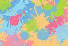 Błękita i menchii pluśnięć abstrakcjonistyczny jaskrawy tło Zdjęcie Royalty Free