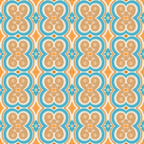 Błękita i pomarańcze wzór Obraz Royalty Free