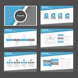 Błękita i popielatego wielocelowego infographic prezentaci broszurki ulotki ulotki strony internetowej szablonu płaski projekt Fotografia Royalty Free