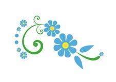 Błękita i zieleni kwiat - kwiaty Obrazy Stock