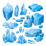 Błękita lodu kawałki ilustracji