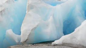 Błękita lodu szczegół, lodowiec Fotografia Royalty Free