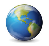 Błękita marmur - ziemia Obraz Royalty Free