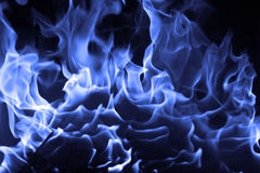Błękita ogień Zdjęcia Royalty Free