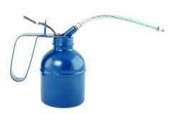 Błękita olej może odosobniony na bielu Fotografia Stock